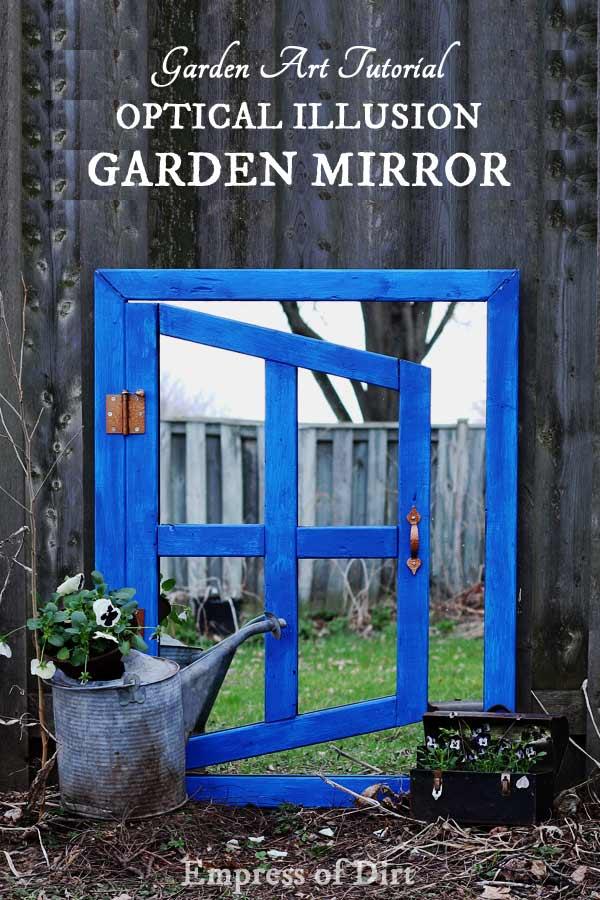DIY Optical Illusion Garden Mirror | Printable