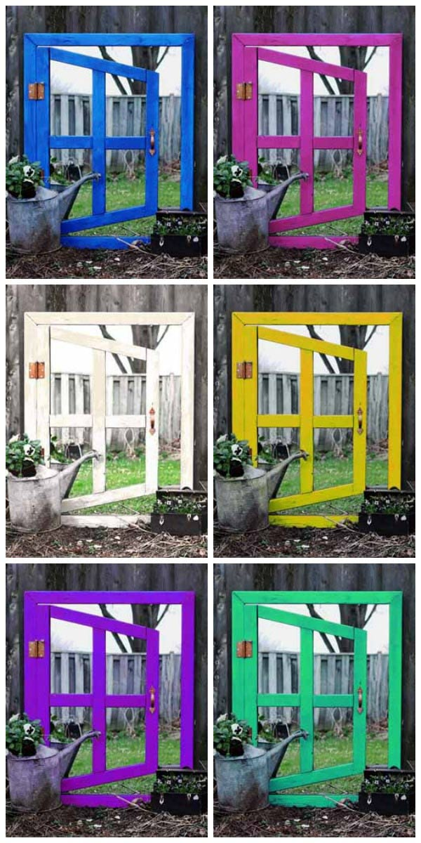 Make your own optical illusion mirror for the home or garden.