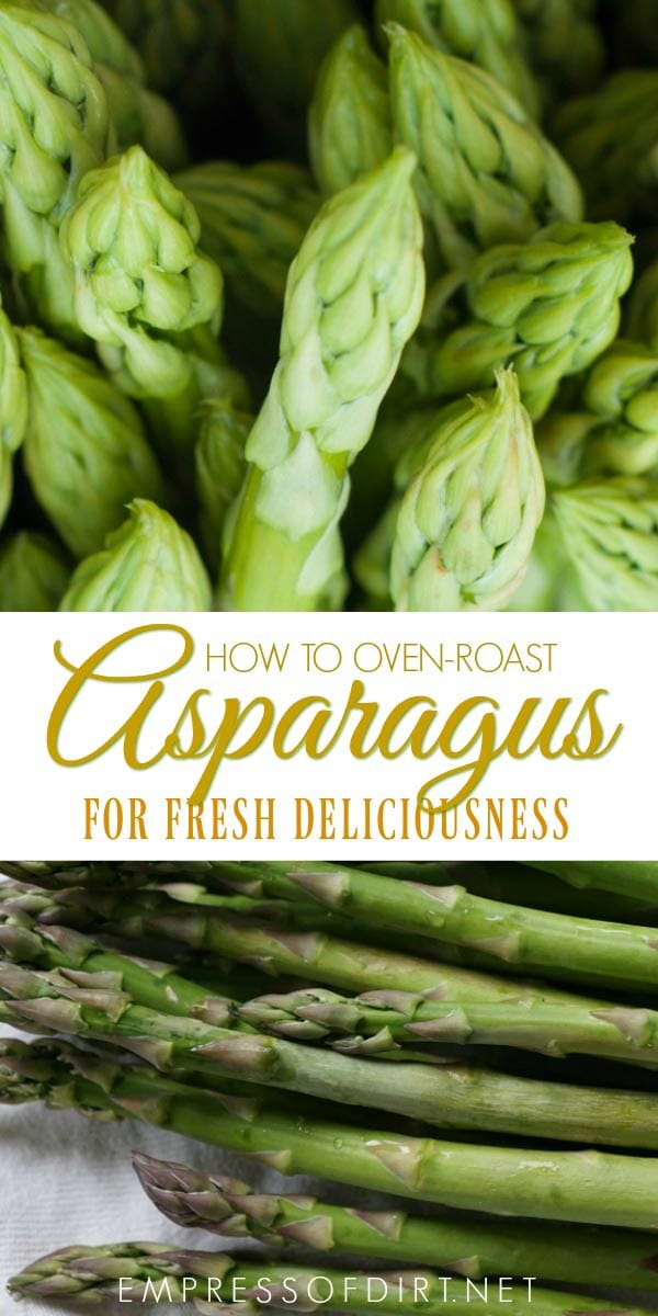 How to oven roast asparagus for complete deliciousness.