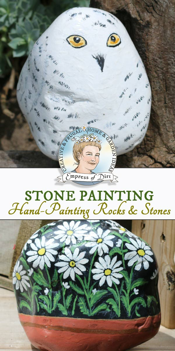 Stone painting tips and tutorials for creating designs on rocks and stones.
