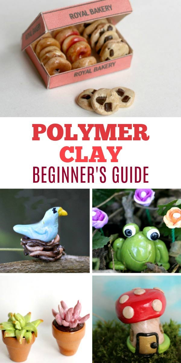 A beginner's guide with everything you need to know to create miniature charms and trinkets with polymer clay.