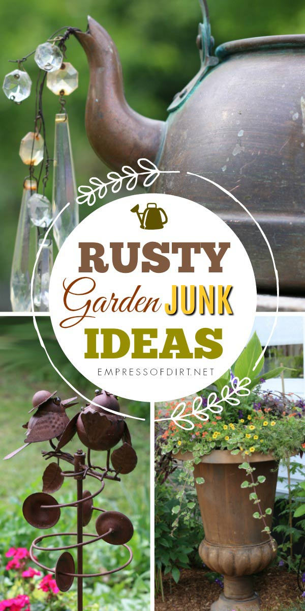 Rusty Garden Art Gallery including orbs, kettles, bee skep, and decorative birds