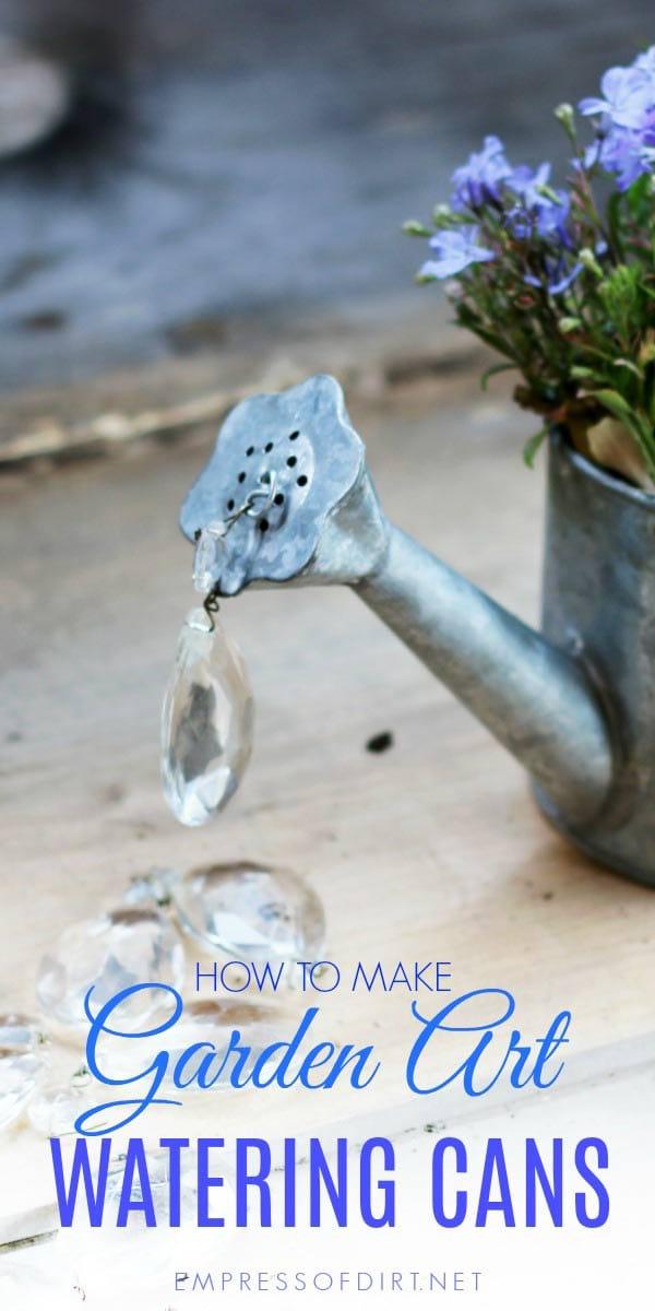 Spilling Watering Can Garden Art Tutorial - Empress of Dirt