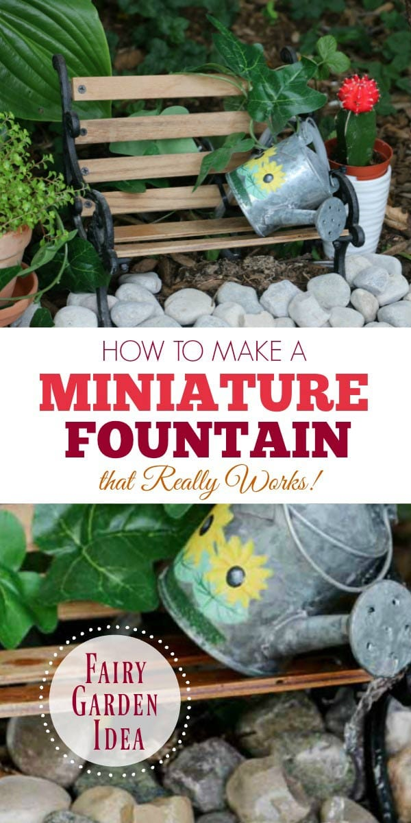 Make A Miniature Fairy Garden Fountain That Really Works