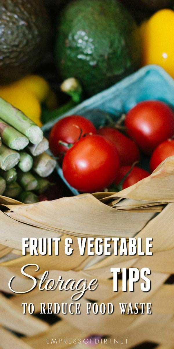 How To Store Fruit And Vegetables To Avoid Food Waste