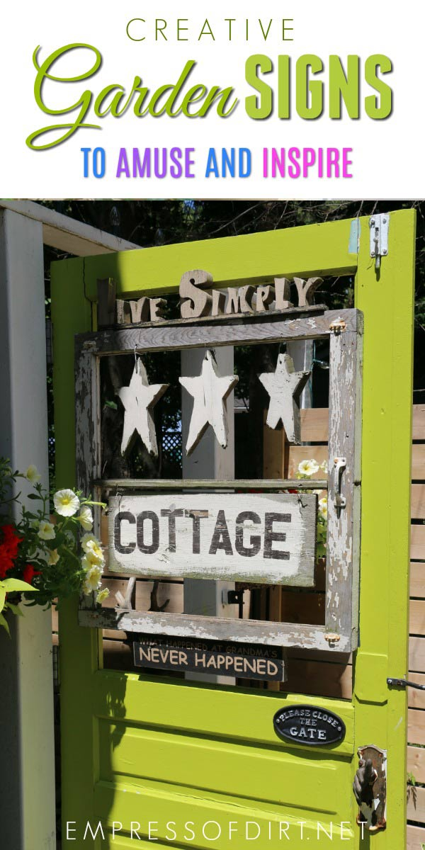 Amusing and creative signs from home garden tours.
