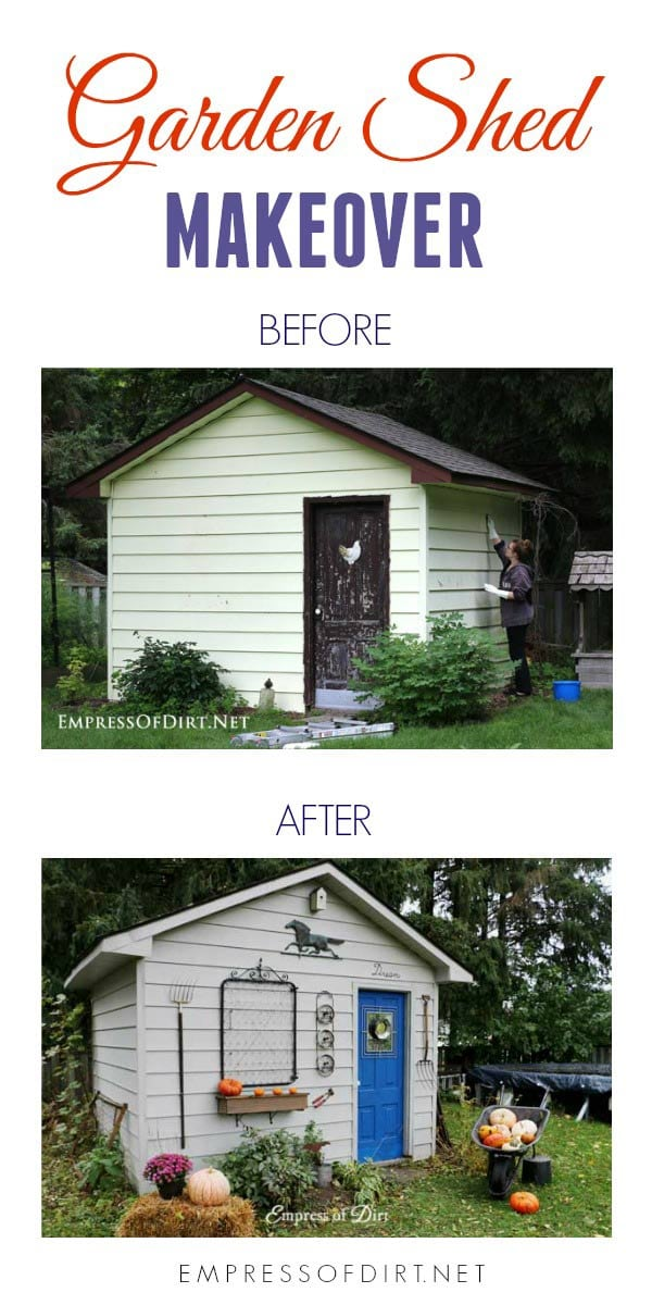 Paint And Decorate A Garden Shed For A Complete Makeover.