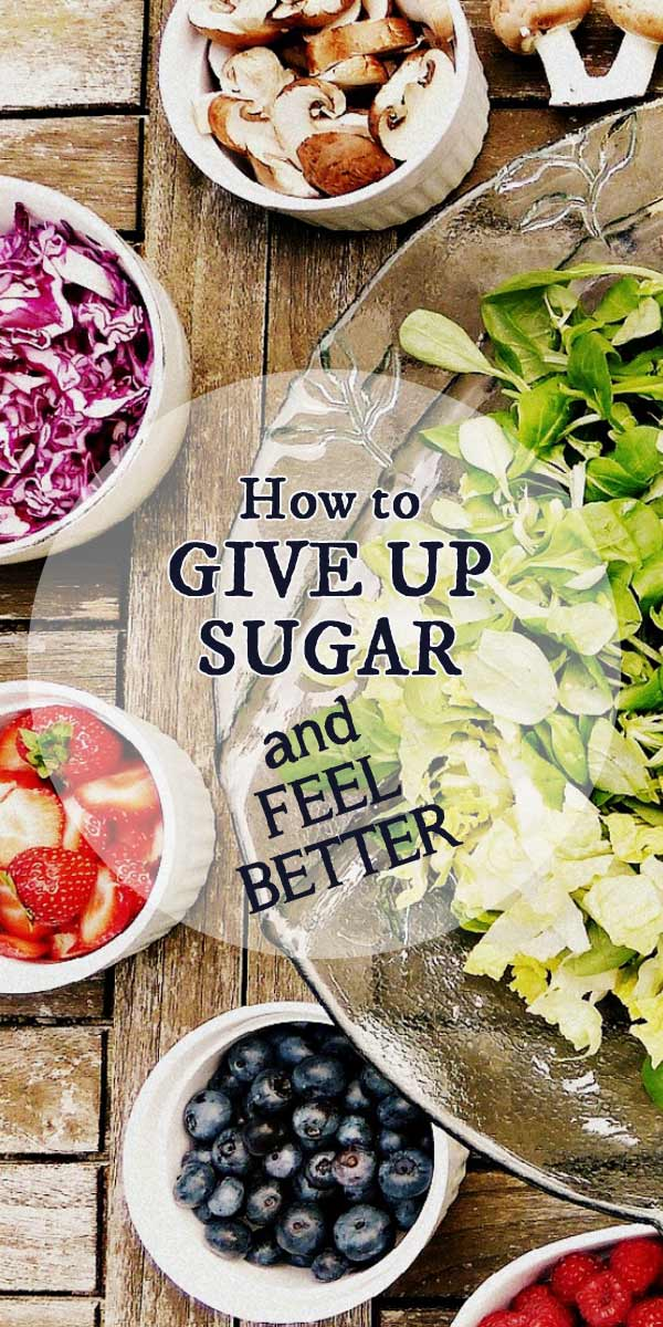 Learn how to give up sugar, feel better, and break addiction to sweets.