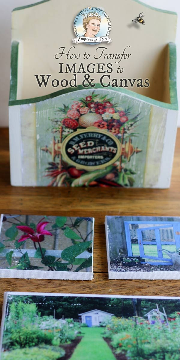 Easy Photo Transfer Method for Wood & Canvas