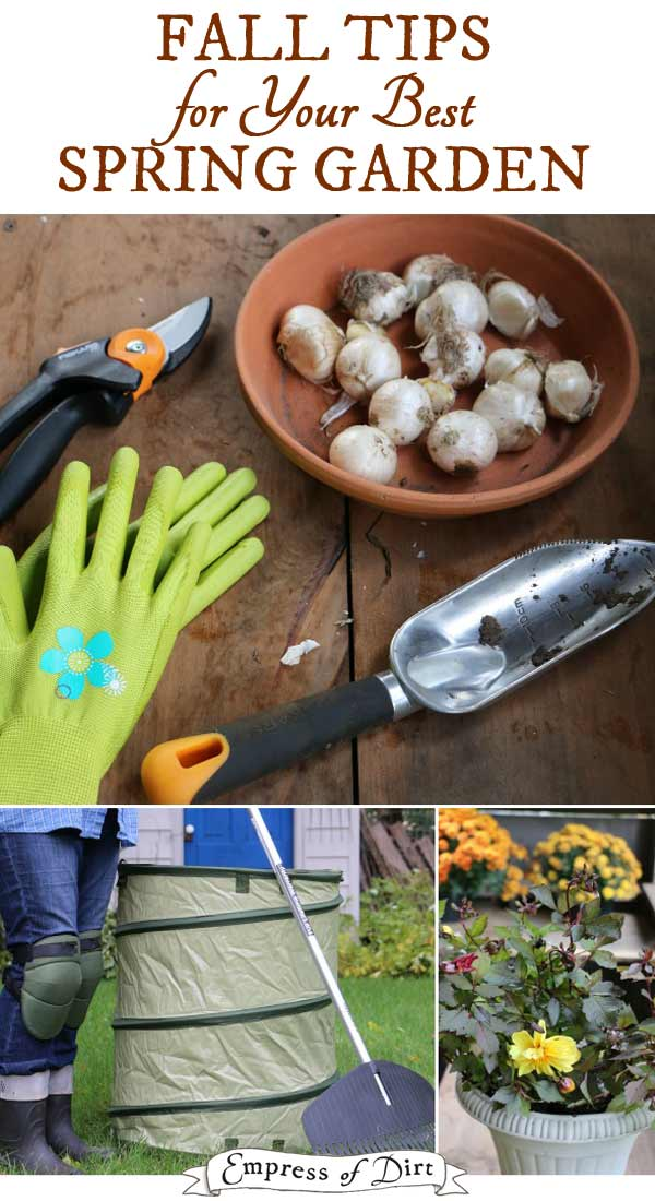 Fall garden tasks for a better spring garden.