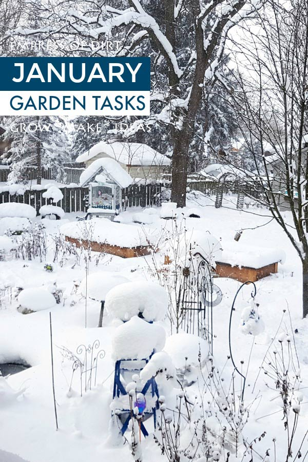 January garden tasks for cold-climate gardeners may include some winter maintenance, indoor growing, crafts and DIY projects, plus dreaming and scheming for the active growing season ahead.