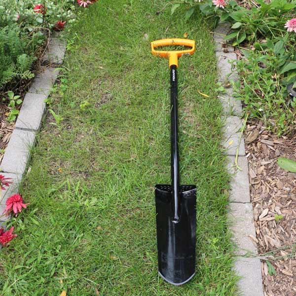 Use a transplanting spade to divide and transplant mature perennials.