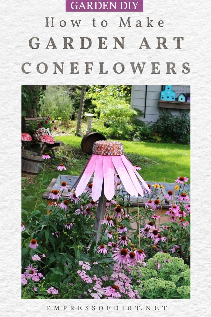 How to Make Giant Garden Art Coneflowers