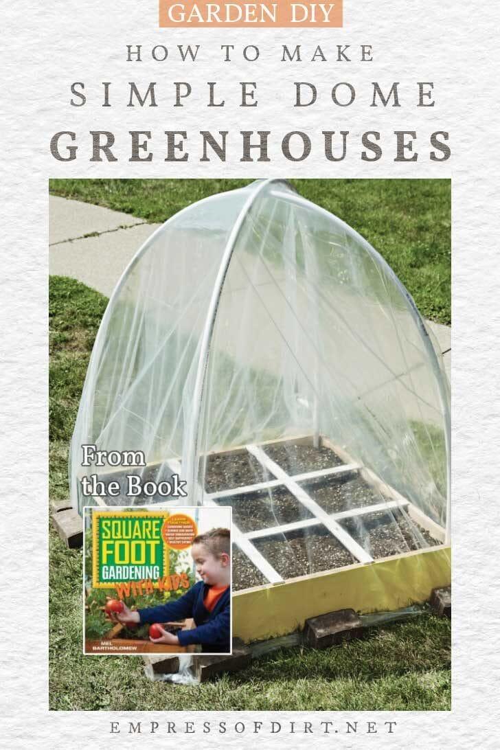 Homemade DIY greenhouse with poly tarp.
