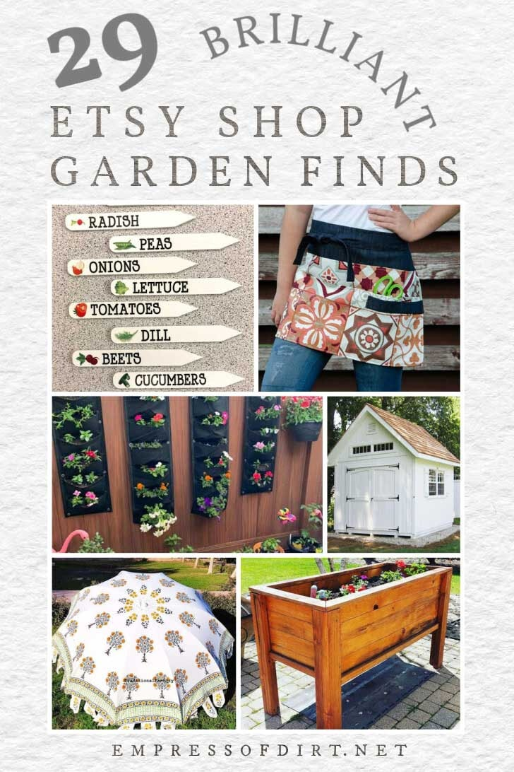 Favorite garden art and supplies from Etsy shops.