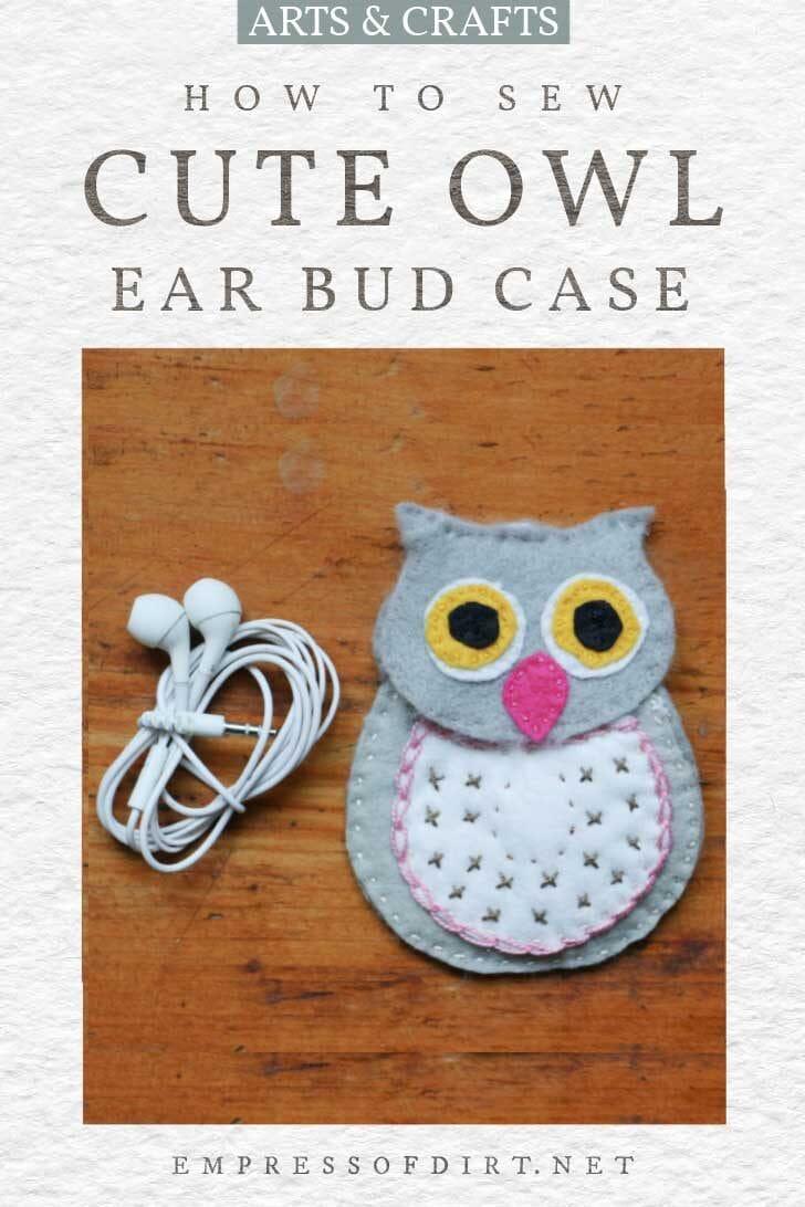 homemade owl ear bud case.