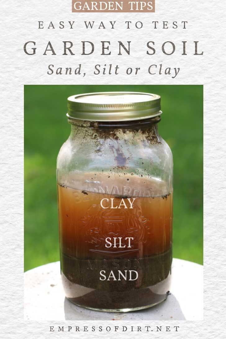 Soil test using jar, soil, and water.