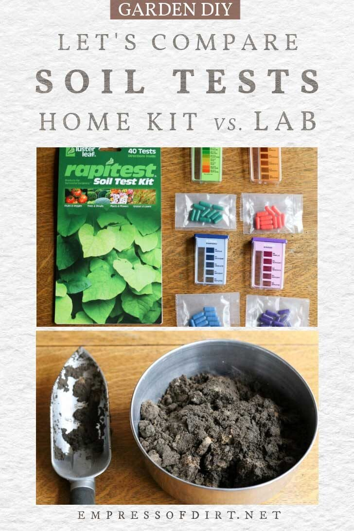 Soil test kit and sample.