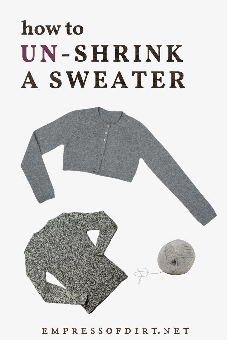 Two shrunken wool sweaters.