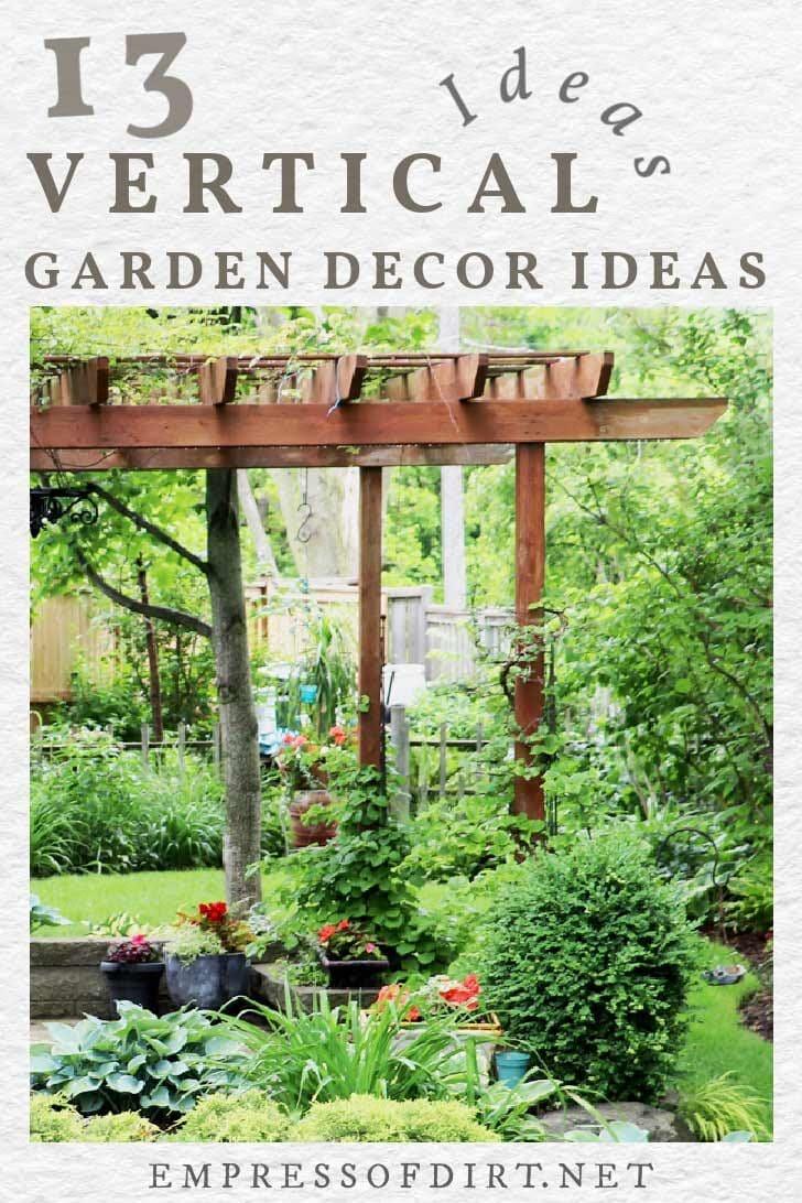 Tall, vertical, wooden garden structure in garden.