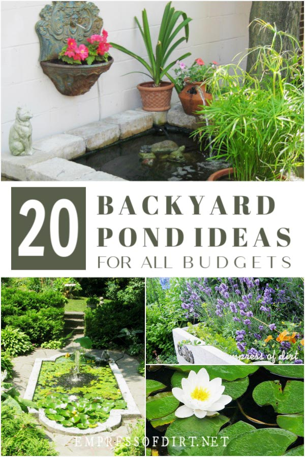 20 Beautiful Backyard Pond Ideas For All Budgets | Empress ... on raised flower beds, raised succulent garden, raised water garden, raised stone garden, raised tree garden, raised butterfly garden, raised shade garden, raised garden plants, raised berry garden, raised cactus garden, raised garden bed, raised container garden, raised rose garden, raised fire pit, raised rock garden, raised iris garden, raised herb garden, raised cottage garden, raised garden design, raised vegetable garden,