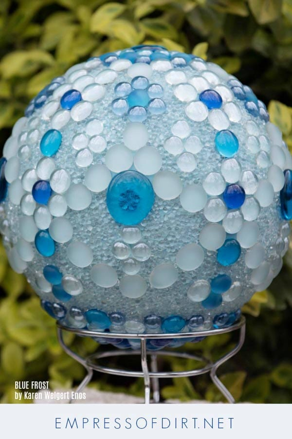 Create a gorgeous decorative bowling ball for your garden.