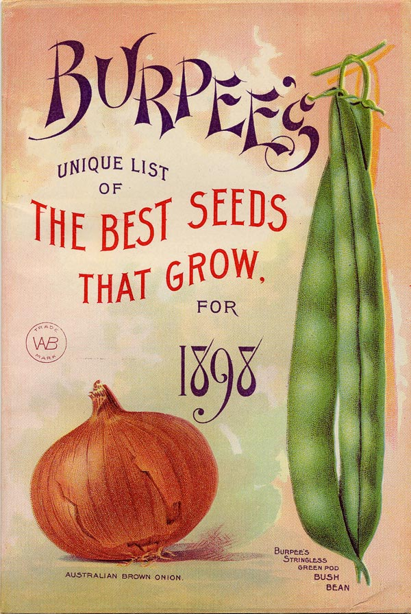 Burpees seed catalogue cover.