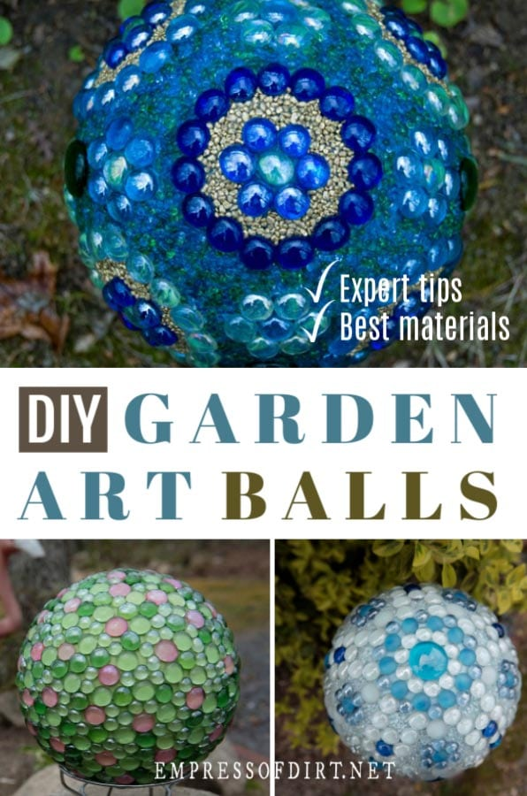 How to make garden art balls.