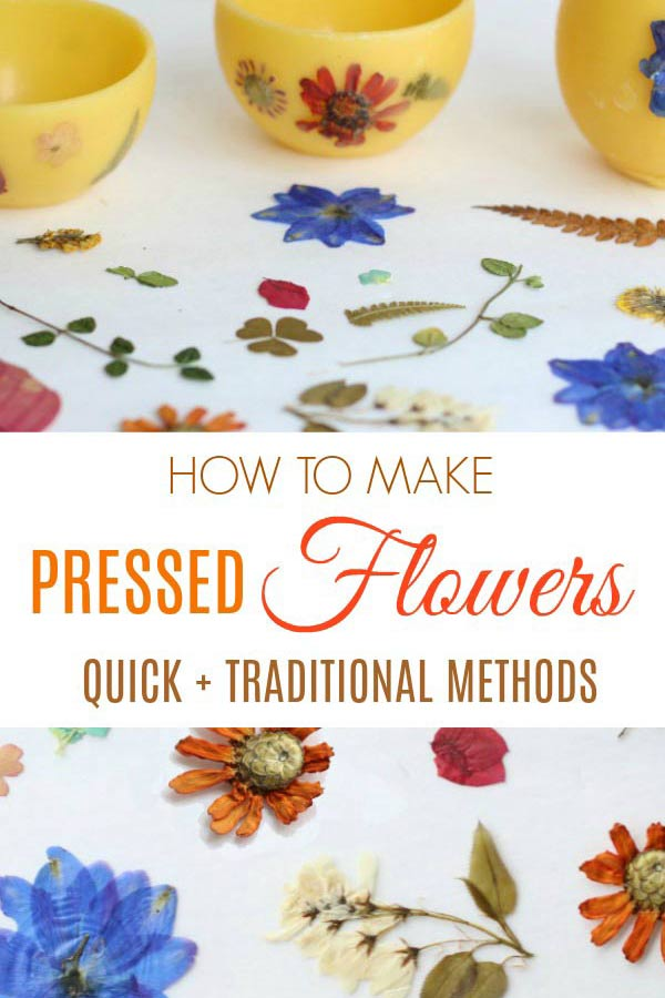 Make your own pressed flowers and botanicals with these quick and traditional methods. #pressedflowers #crafts
