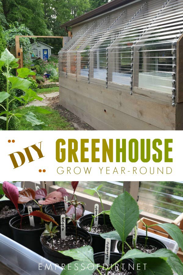 How to build a lean-to greenhouse.