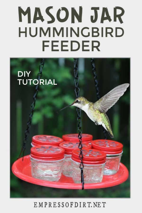 Make a Hummingbird Feeder with Mason Jars