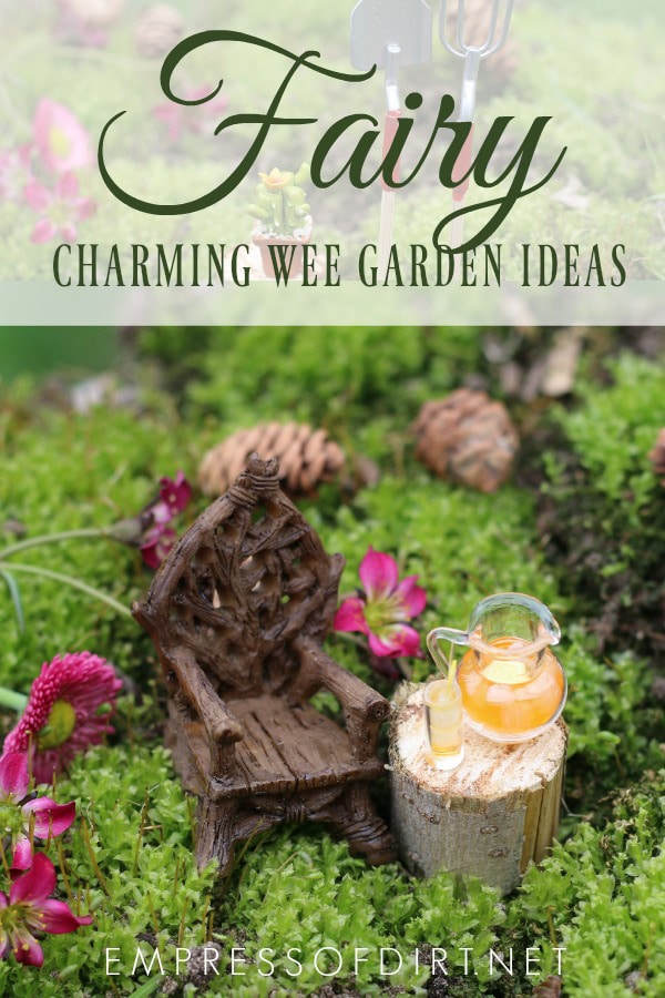 Tips and project ideas for creating fairy and miniature gardens.