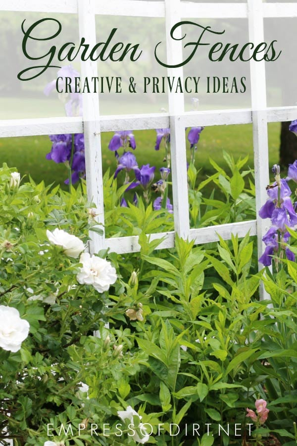 Fence give a garden privacy and an opportunity to display outdoor art. Come see these ideas.
