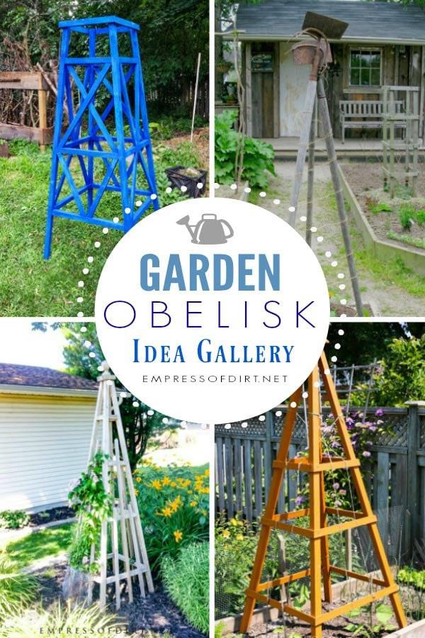 Creative garden obelisk idea gallery.
