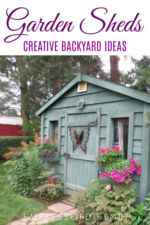 100 Garden shed ideas to inspire your backyard garden. All styles, sizes, and budgets.