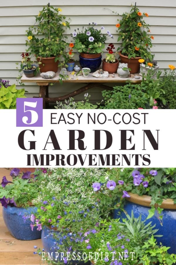 Instant garden improvement ideas.