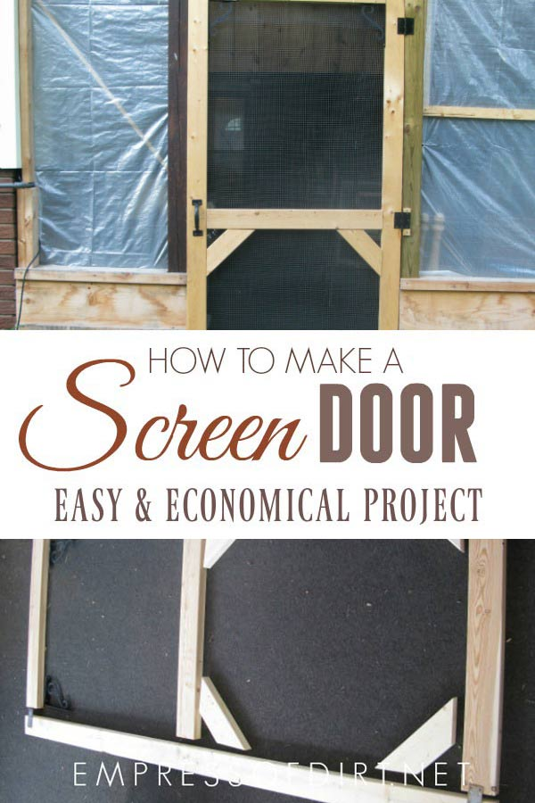 How to make a simple, custom screen door for a patio or porch.