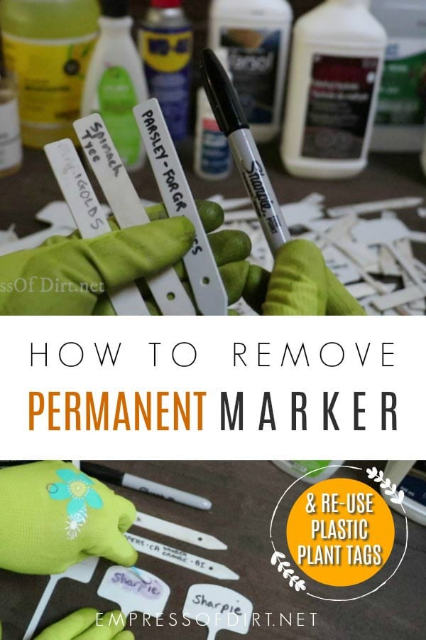 how to remove permanent marker from plastic plant tags empress of dirt
