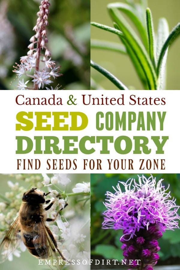 Seed company listings for Canada and the United States. Handy resource for finding organic seed sources.