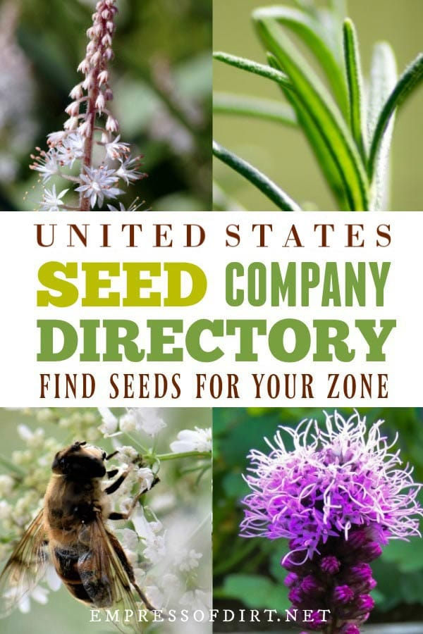 Seed company listings in the United States.