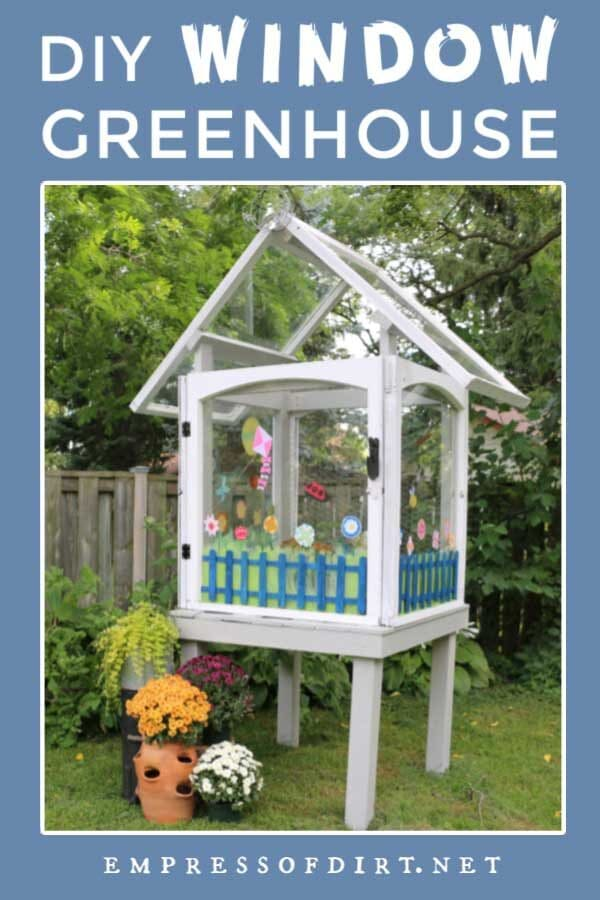 Make a Mini Greenhouse from Old House Windows