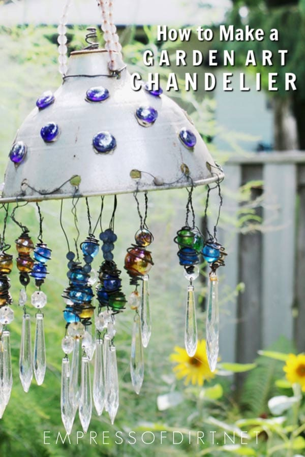 How To Make A Sparkling Garden Art Chandelier