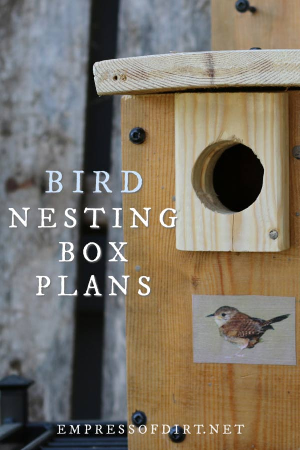 Nesting Box Building Plans for Wild Birds
