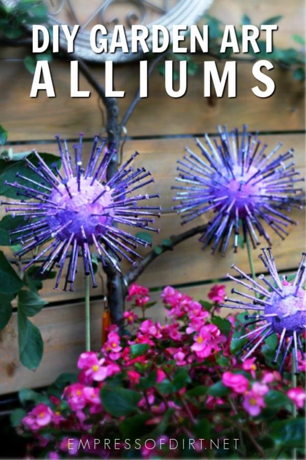 How to Make Giant Garden Art Alliums