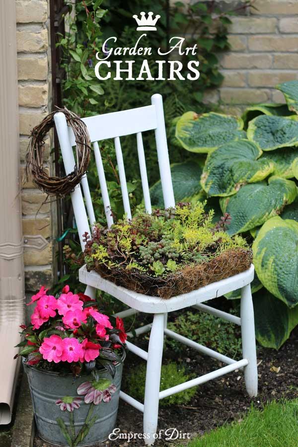 Gallery of garden art chair ideas