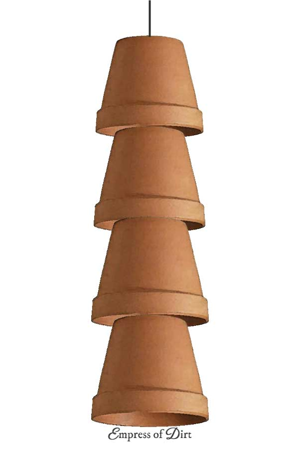 Clay pot wind chimes