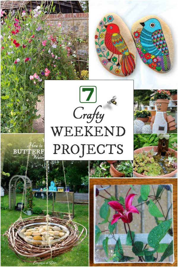 Have you got a creative itch to scratch? These seven projects are the perfect remedy when you have a few hours on a weekend afternoon.