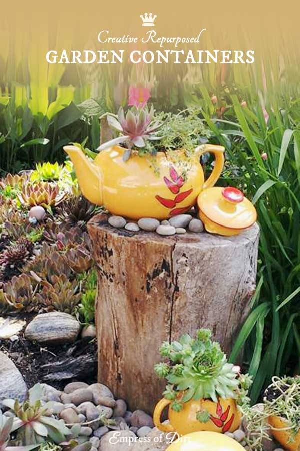 Creative repurposed garden containers for your outdoor space