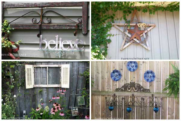 Creative garden fence art.