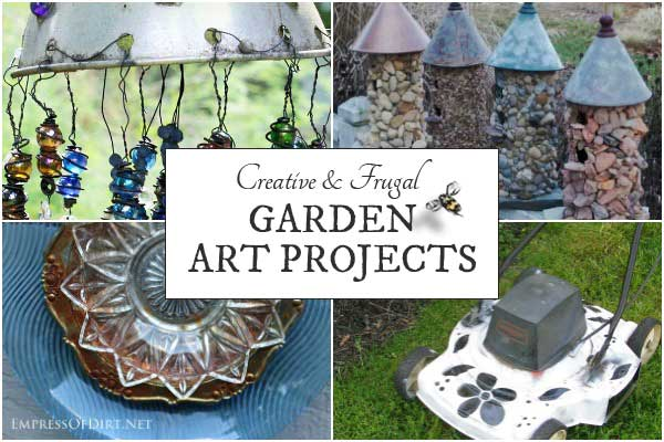 Creative and frugal garden art projects for your backyard